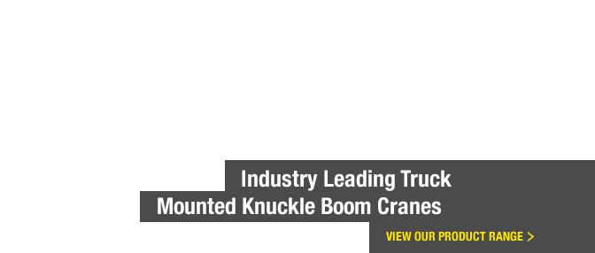 Industry Leading Truck Mounted Knuckle Boom Cranes